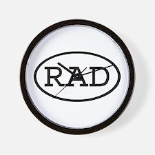 RAD Oval Wall Clock
