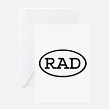 RAD Oval Greeting Card