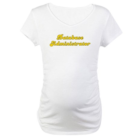Retro Database ad.. (Gold) Maternity T-Shirt