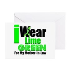 Lime Green Ribbon Greeting Cards (Pk of 10)