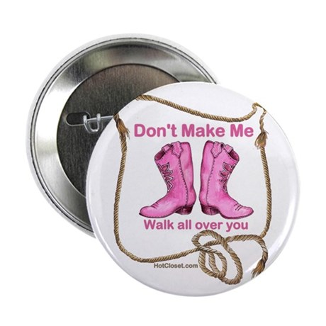 """PINK BOOTS 2.25"""" Button (10 pack)"""