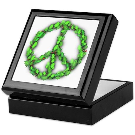 Peace Holly Wreath Keepsake Box