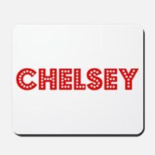 Retro Chelsey (Red) Mousepad