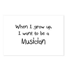 When I grow up I want to be a Musician Postcards (