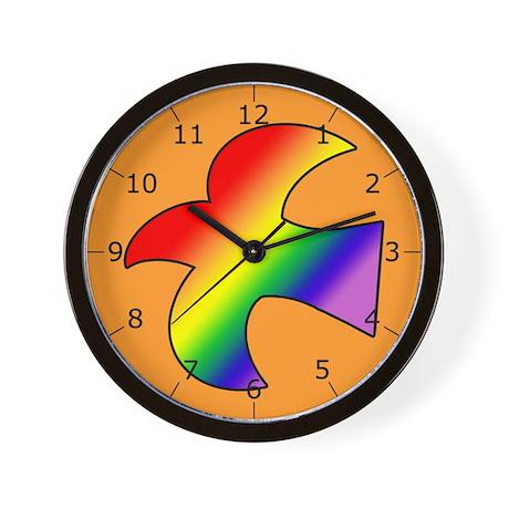 GLBT Dove o Wall Clock
