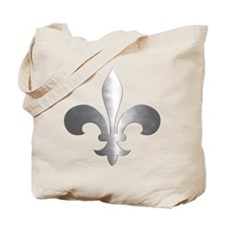 Metallic Fleur De Lis Tote Bag