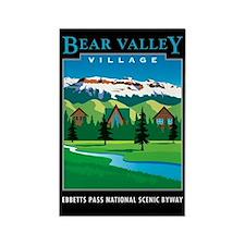 Bear Valley Village - Rectangle Magnet