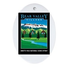 Bear Valley Village - Oval Ornament