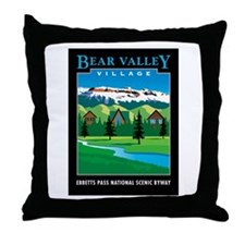 Bear Valley Village - Throw Pillow