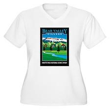 Bear Valley Village - Women's Plus V-Neck T-Shirt
