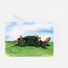 Happy Doxie (B&T) Greeting Cards (Pk of 10)