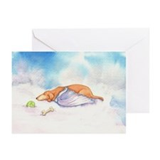 Dachshund Cloud Angel Greeting Cards (Pk of 10