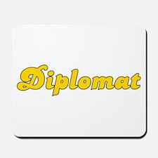 Retro Diplomat (Gold) Mousepad