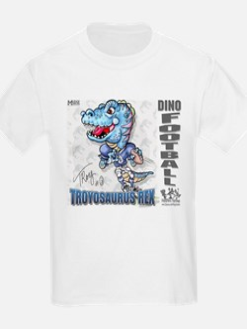 Troyosaurus Dino Football Kids T-Shirt