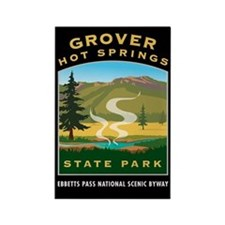 Grover Hot Springs - Rectangle Magnet