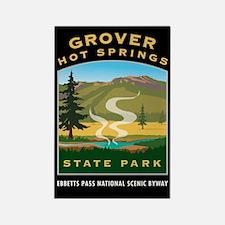 Grover Hot Springs - Rectangle Magnet