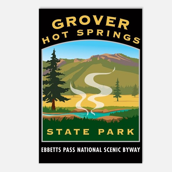 Grover Hot Springs - Postcards (Package of 8)