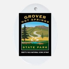 Grover Hot Springs - Oval Ornament