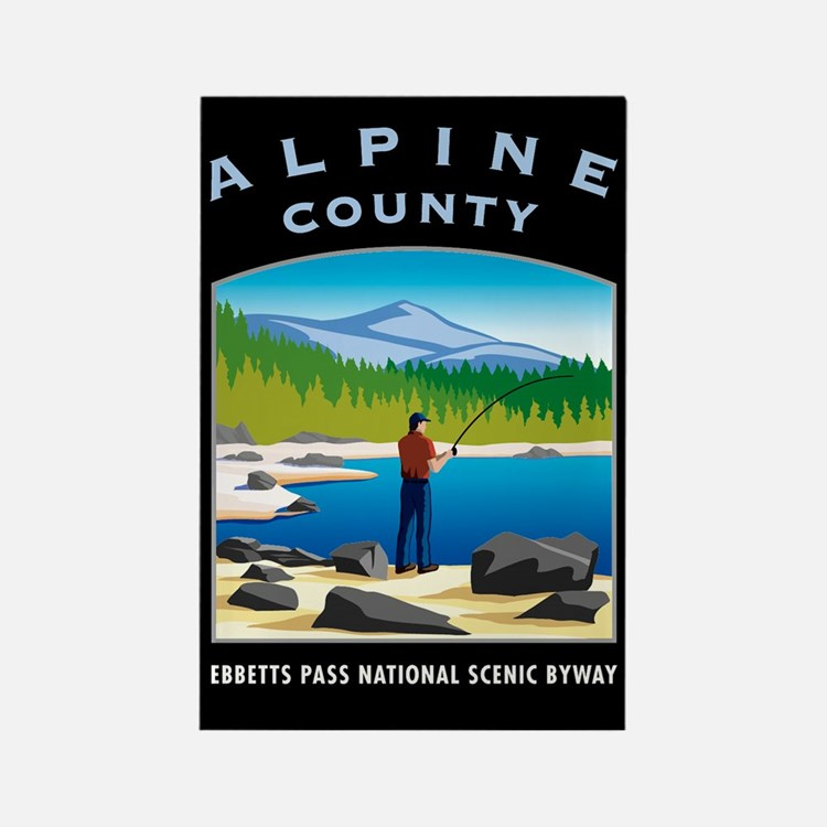 Alpine County - Rectangle Magnet