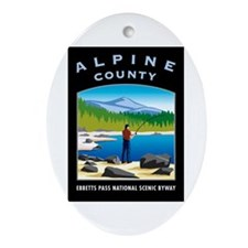 Alpine County - Oval Ornament