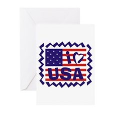 I LOVE USA Greeting Cards (Pk of 20)