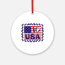I LOVE USA Ornament (Round)