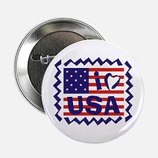 """I LOVE USA 2.25"""" Button"""