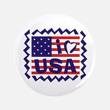 """I LOVE USA 3.5"""" Button"""