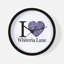 Wisteria Lane Wall Clock