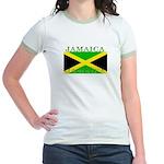 Jamaica Jamaican Flag Jr. Ringer T-Shirt