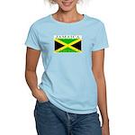 Jamaica Jamaican Flag Women's Pink T-Shirt