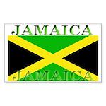 Jamaica Jamaican Flag Rectangle Sticker
