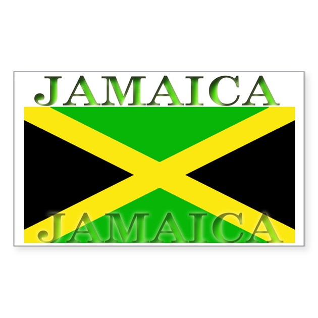Jamaica Jamaican Flag Rectangle Decal By Allflags
