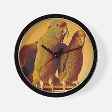 Parrot Pair Wall Clock