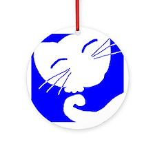 Blue Sleepy Cat Keepsake (Round)