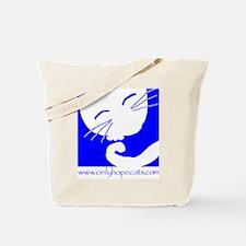 Blue Sleepy Cat Tote Bag