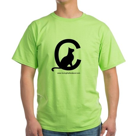 Loving the Feral Cat Soul Logo Green T-Shirt
