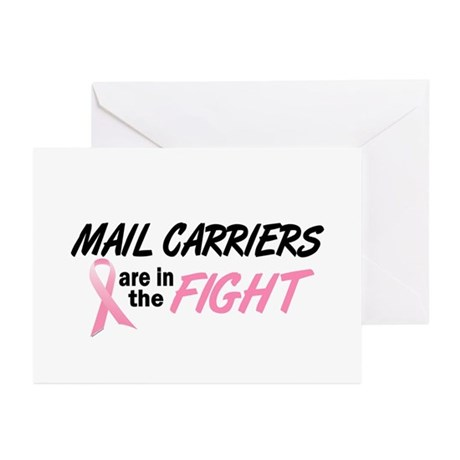 Mail Carriers In The Fight Greeting Cards (Pk of 1