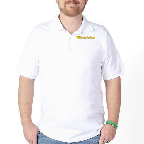 Retro Electrician (Gold) Golf Shirt