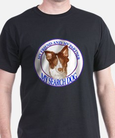 Search dog border collie T-Shirt