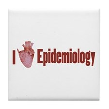 I Heart Epidemiology Tile Coaster