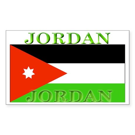 Jordan Jordanian Flag Rectangle Sticker
