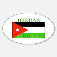 Jordan Jordanian Flag Oval Decal