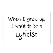 When I grow up I want to be a Lyricist Postcards (