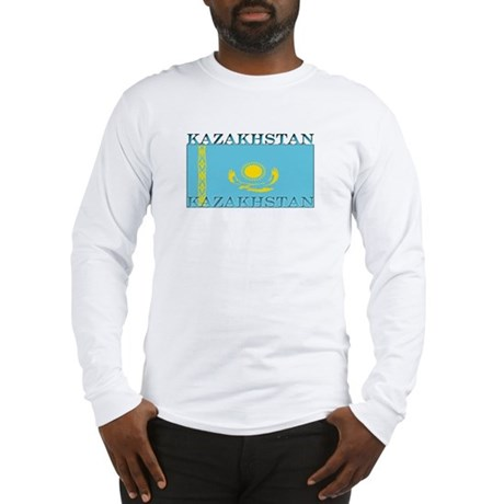 Kazakhstan Kazakhstani Flag Long Sleeve T-Shirt