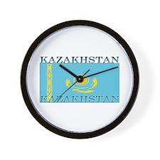 Kazakhstan Kazakhstani Flag Wall Clock
