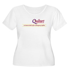 Women's Plus Size Printed Scoop Neck T-Shirt