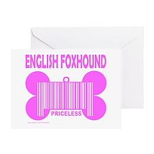 ENGLISH FOXHOUND PRICELESS Greeting Card