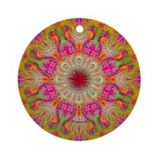 Fractal Flower Ornament (Round)