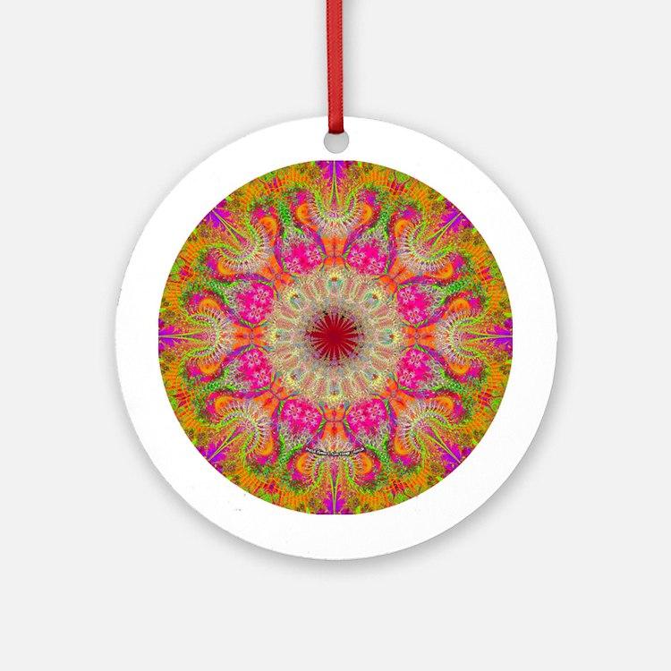 Fractal Flower Ornament (Round)